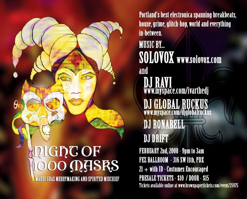 Mardis Gras, Fe Ballroom, Portland, Oregon